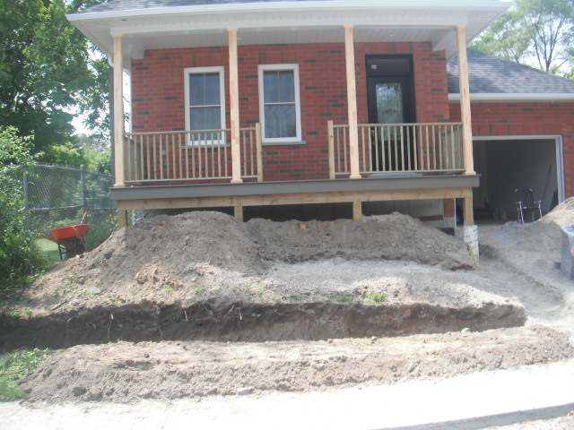 Front of Home rough base in