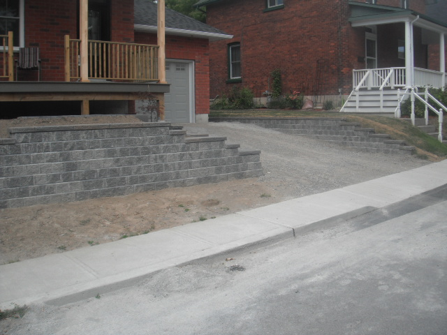 Completed Front and Side Retaining Walls