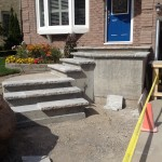 Layout of flagstone coping