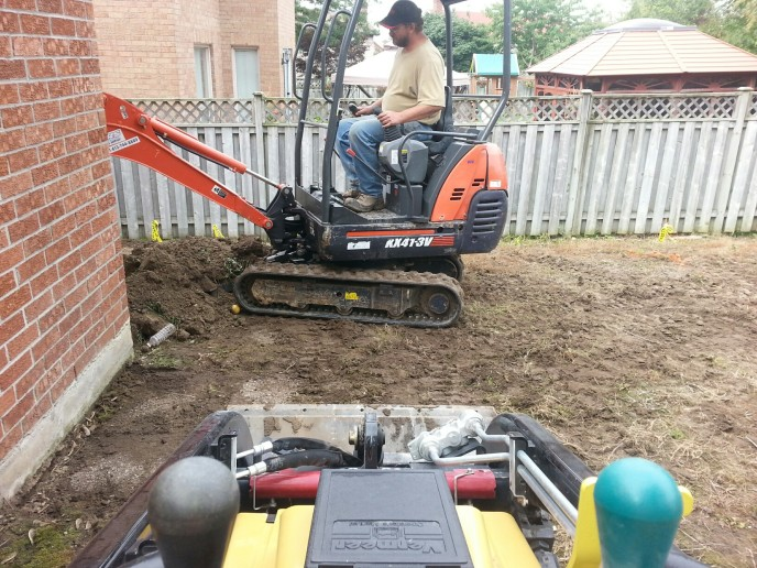Excavation & removal of fill material