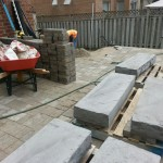 Staging materials for steps