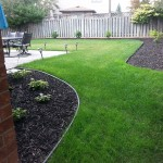 Garden edging installed by owner