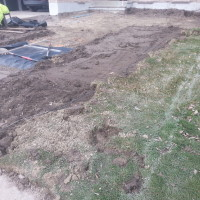 Sod & soil removed