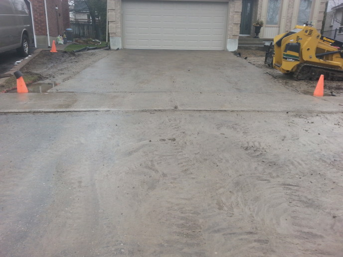 Asphalt prior to removal